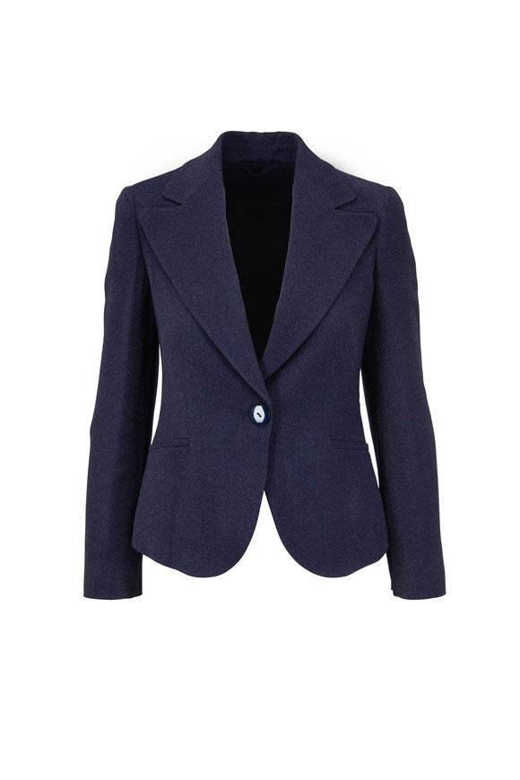 Emporio Armani Navy Single Button Blazer