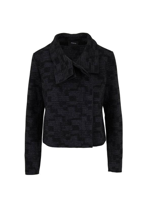 Akris Rhode Island Slate Gray Cashmere Tweed Jacket