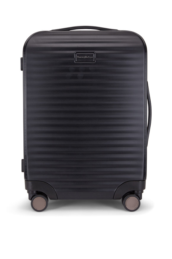 Ermenegildo Zegna Black Hard-Side Trolley Spinner Luggage