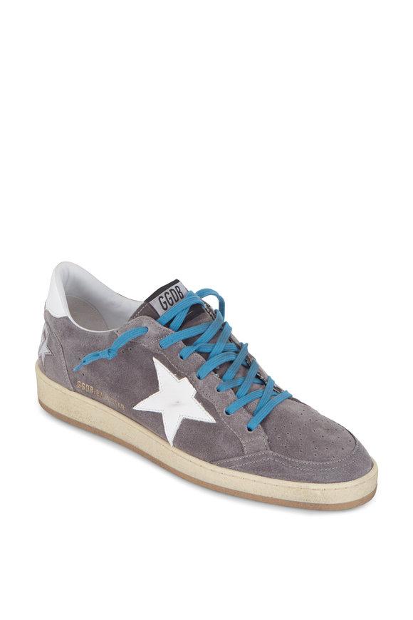 Golden Goose Ball Star Gray Suede White Star Sneaker