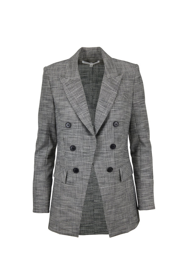 Veronica Beard Fortuna Gray Plaid Dickey Jacket