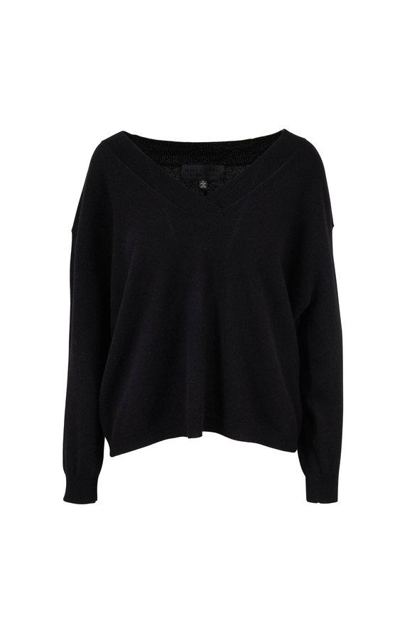 Nili Lotan Merle Black Cashmere V-Neck Sweater