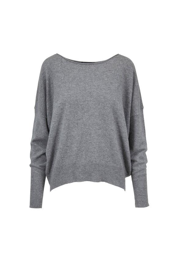 Nili Lotan Odeya Medium Gray Melange Cashmere Sweater