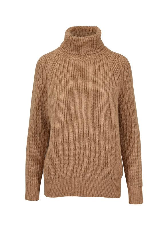 Nili Lotan Anitra Camel Turtleneck Sweater