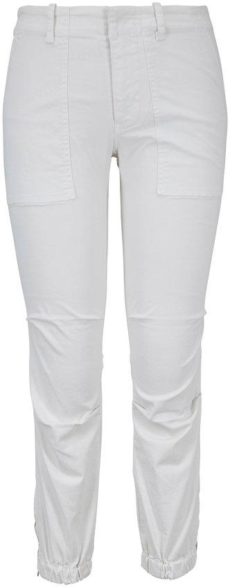Nili Lotan Eggshell Twill Cropped Military Pant