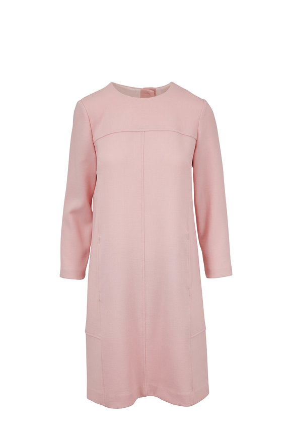 Lela Rose Petal Wool Crêpe Shift Dress