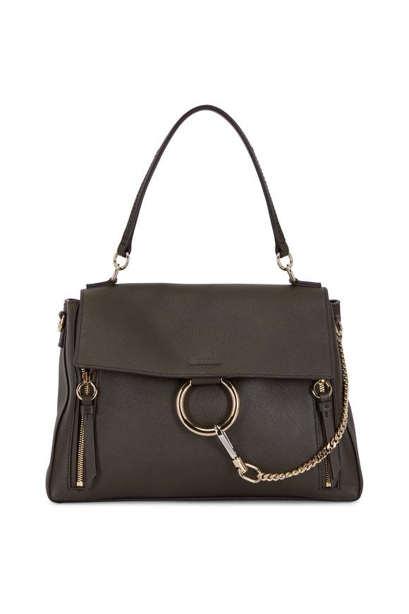 Chloé Faye Deep Forest Medium Leather Shoulder Bag