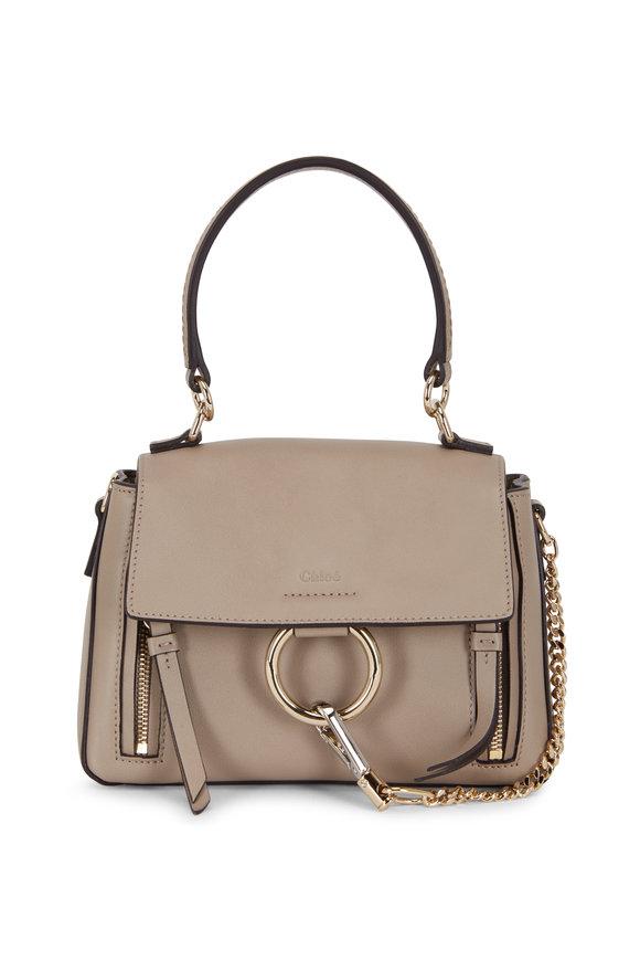 Chloé Mini Faye Motty Gray Leather Bag