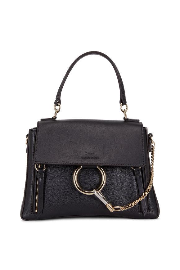 Chloé Faye Black Leather Shoulder Bag