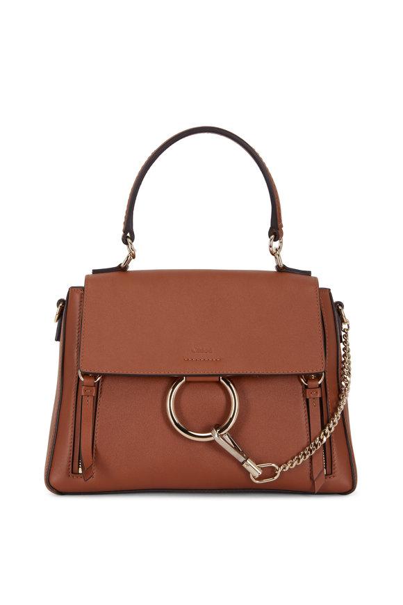 Chloé Faye Tan Leather Shoulder Bag
