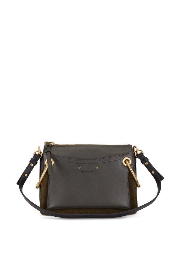 Chloé Roy Deep Forest Green Leather Shoulder Bag