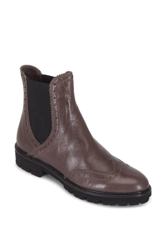 Pas de Rouge Ardesia Dark Gray Double-Gore Wingtip Boot
