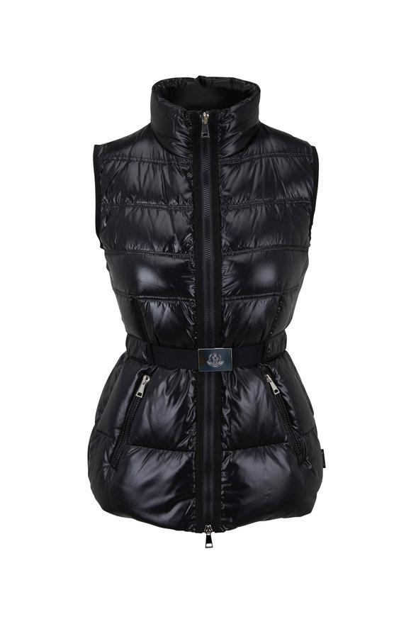 Moncler Aigrette Black Belted Puffer Vest