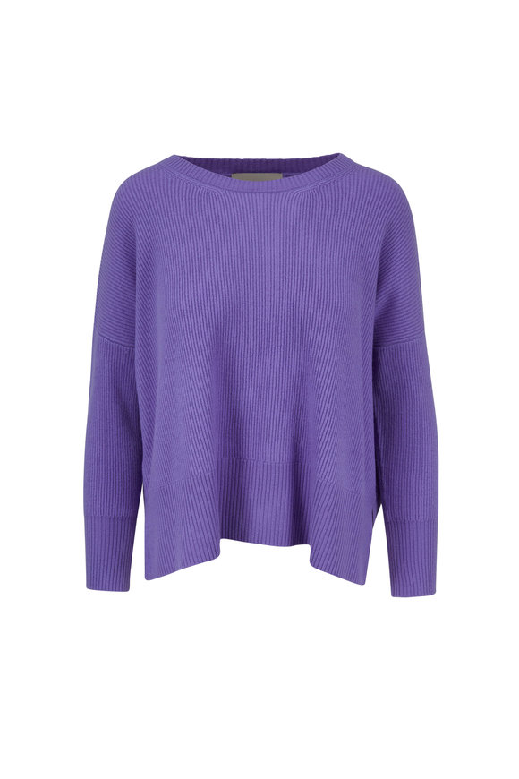 Jumper 1234 Lilac Ribbed Cashmere Crewneck Sweater