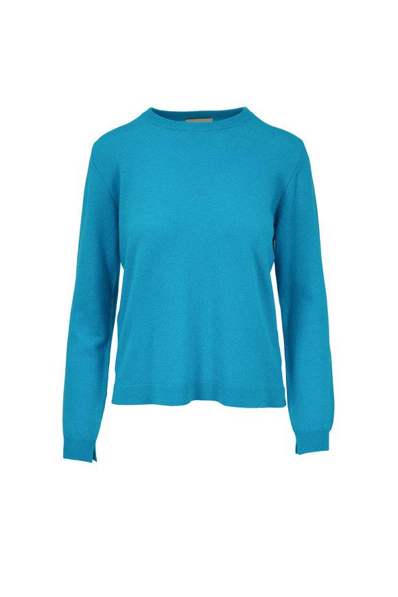 Jumper 1234 Turquoise Cashmere Crewneck Sweater