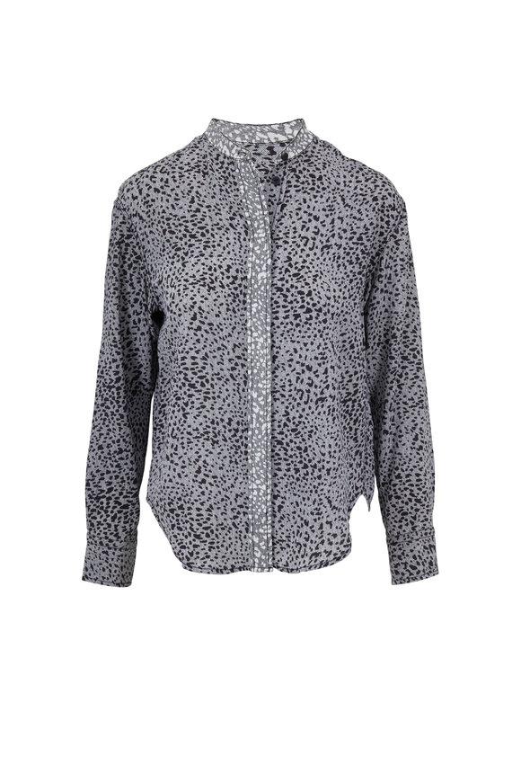 Rag & Bone Christie Black & White Printed Silk Shirt
