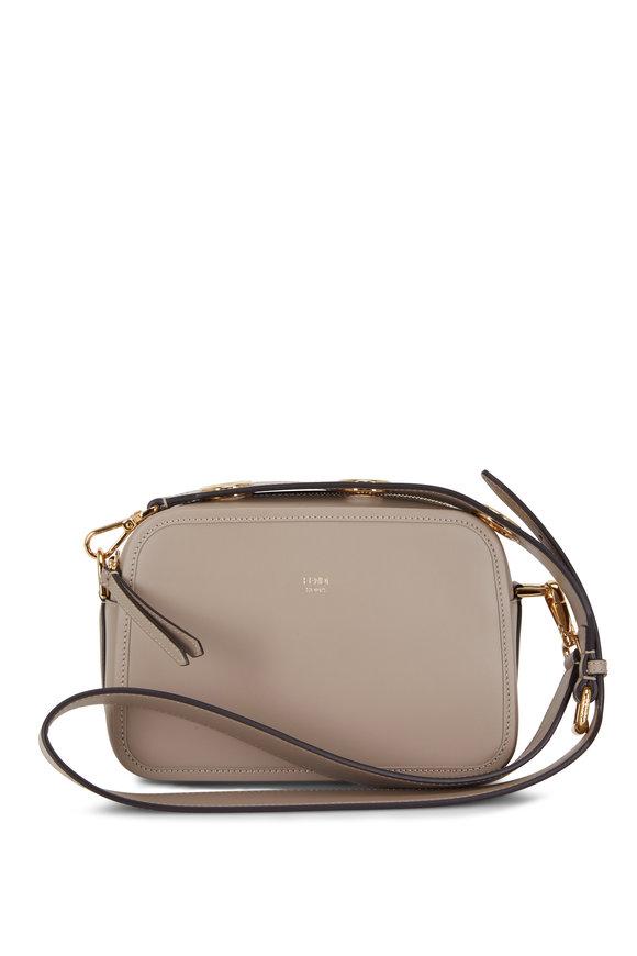 Fendi Taupe Calf Leather Camera Crossbody Bag