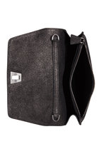 Akris - Anouk Graphite Studded Mini Envelope Crossbody Bag