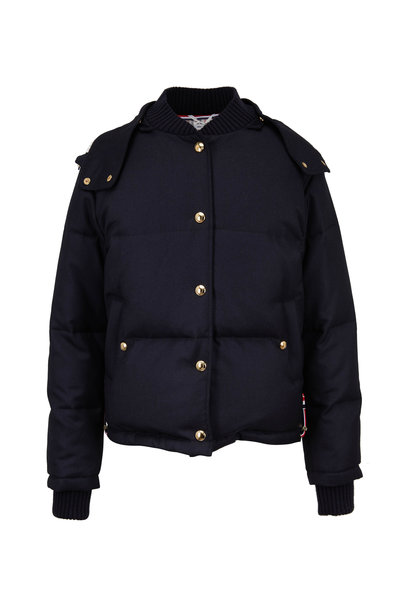 Thom Browne - Navy Down Bomber Jacket