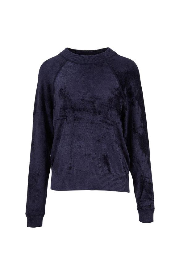 Elizabeth & James Pearl Navy Luxe Velvet Sweatshirt
