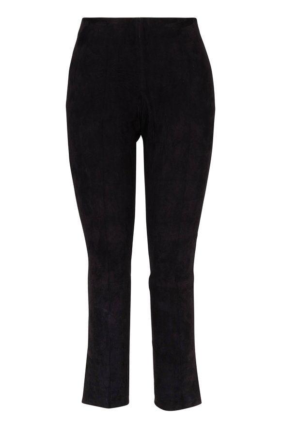 Vince Black Suede Cropped Legging
