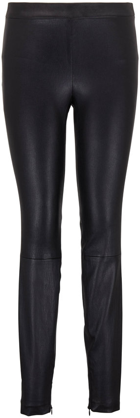 Vince Black Leather Zip Cuff Legging