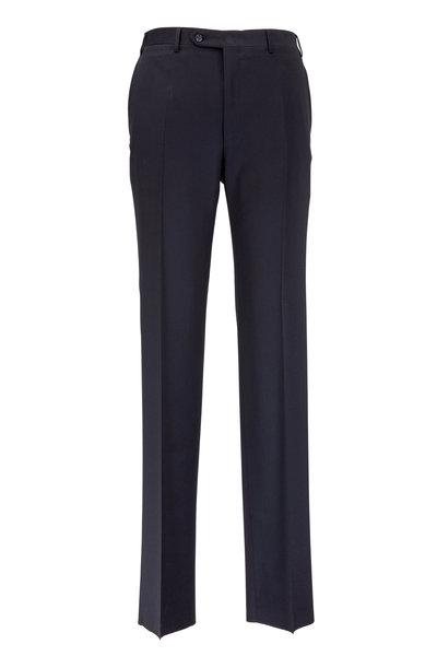 Canali - Black Wool Twill Pant