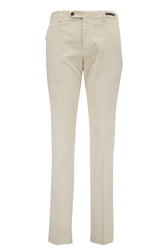 PT Pantaloni Torino Off-White Corduroy Slim Fit Pant