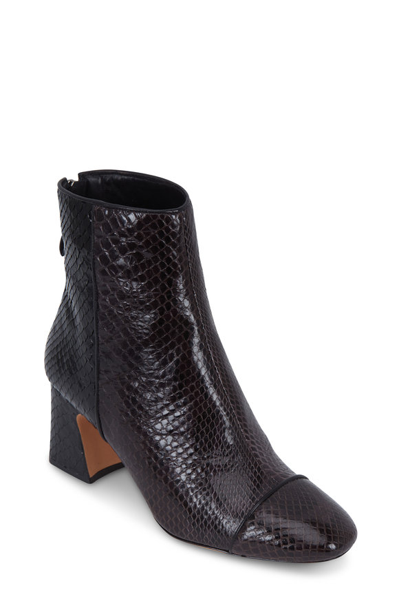 Alexandre Birman Corella Ebony Python Ankle Boot, 60mm