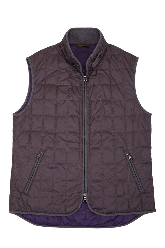 Waterville Theo Gray Box Quilted Vest