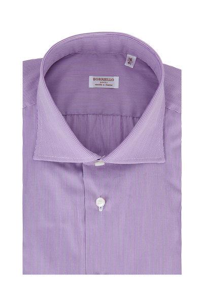 Borriello - Light Purple Striped Dress Shirt