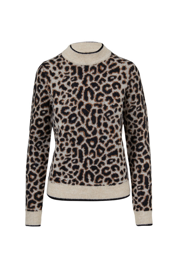 Veronica Beard Marly Leopard Printed Sweater