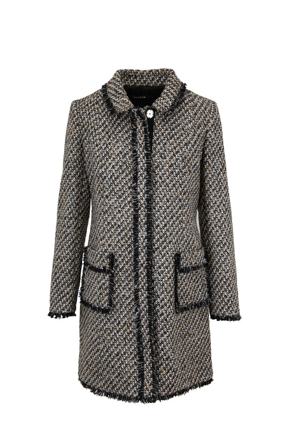 Paule Ka Nate Noir & Camel Tweed Coat