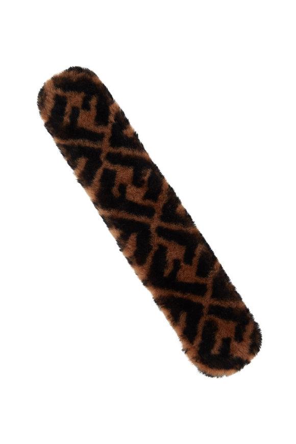 Fendi Strap Thru Tobacco & Black F Logo Shoulder Strap