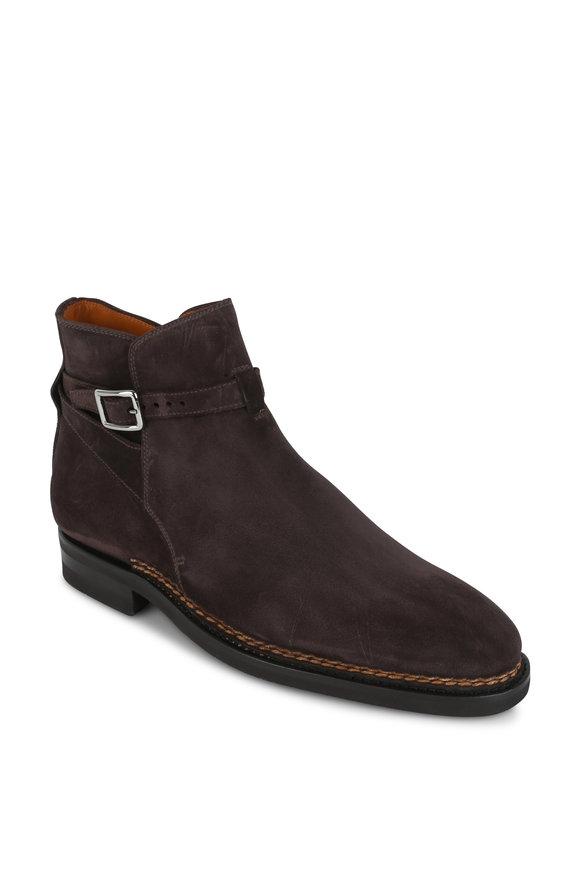 Bontoni Luchino Dark Brown Suede Boot