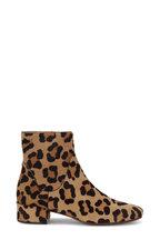 Francesco Russo - Leopard Print Calf Hair Bootie, 30mm