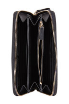 Valentino Garavani - VLTN Black & White Leather Zip Around Wallet