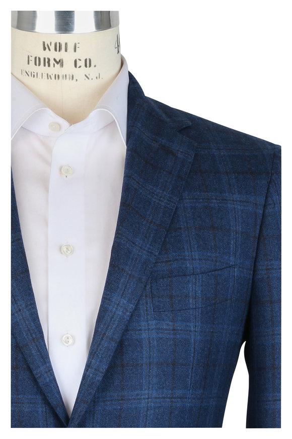 Mauro Blasi Blue Plaid Wool Sportcoat