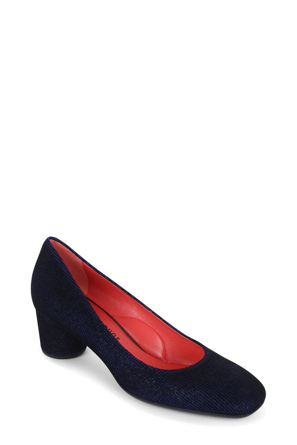 Pas de Rouge Chantal Blue Suede Pump, 50mm
