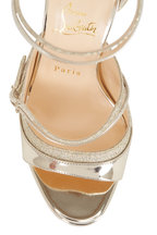 Christian Louboutin - Sotto Sopra Specchio Glitter Sandals, 100mm