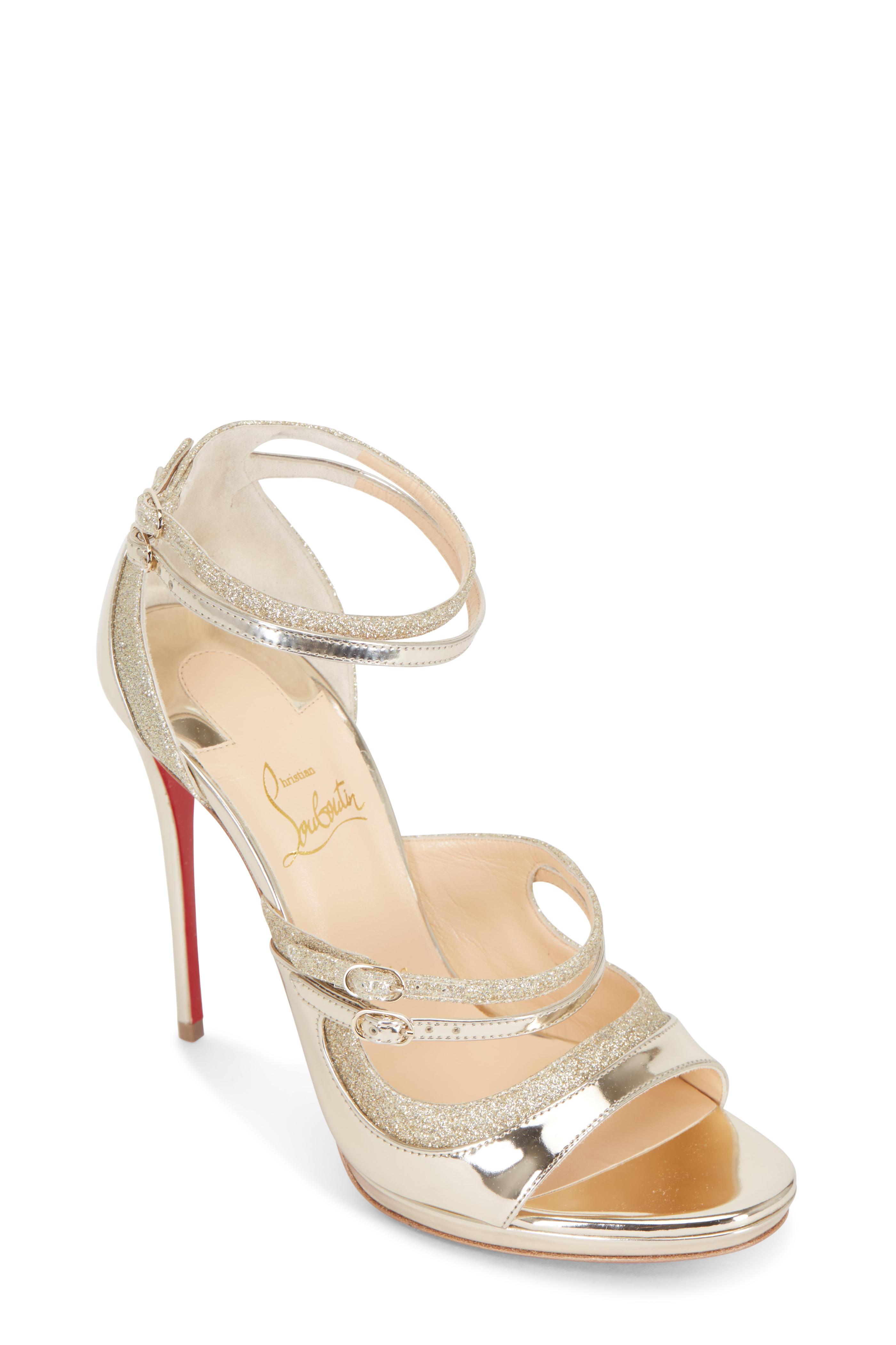 the latest 4036a 17502 Christian Louboutin - Sotto Sopra Specchio Glitter Sandals ...