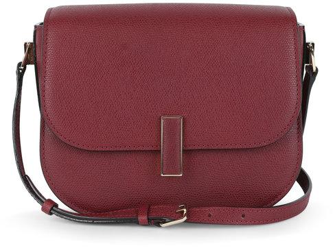 Valextra Iside Dark Red Leather Crossbody