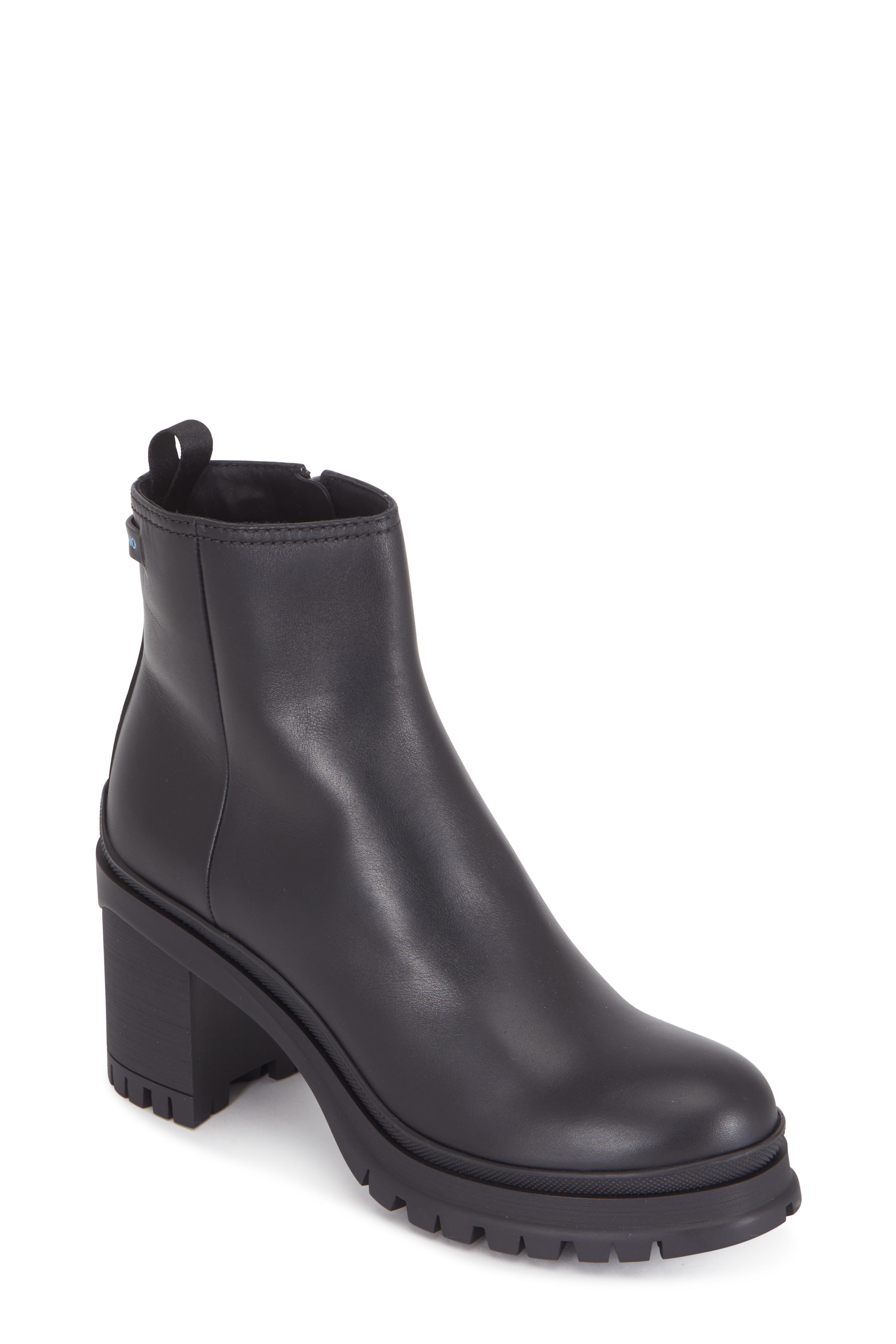 e82f161f Prada - Black Leather Lug Sole Ankle Boot, 55mm   Mitchell Stores
