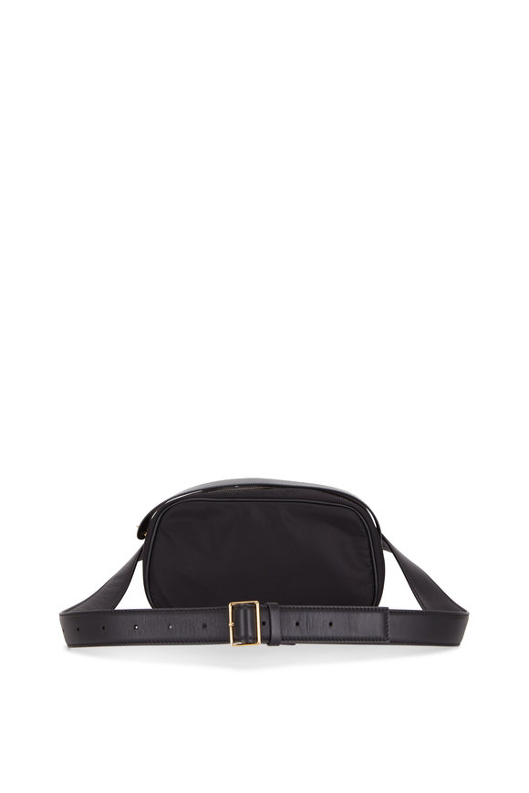 The Row Black Nylon & Leather Fannypack