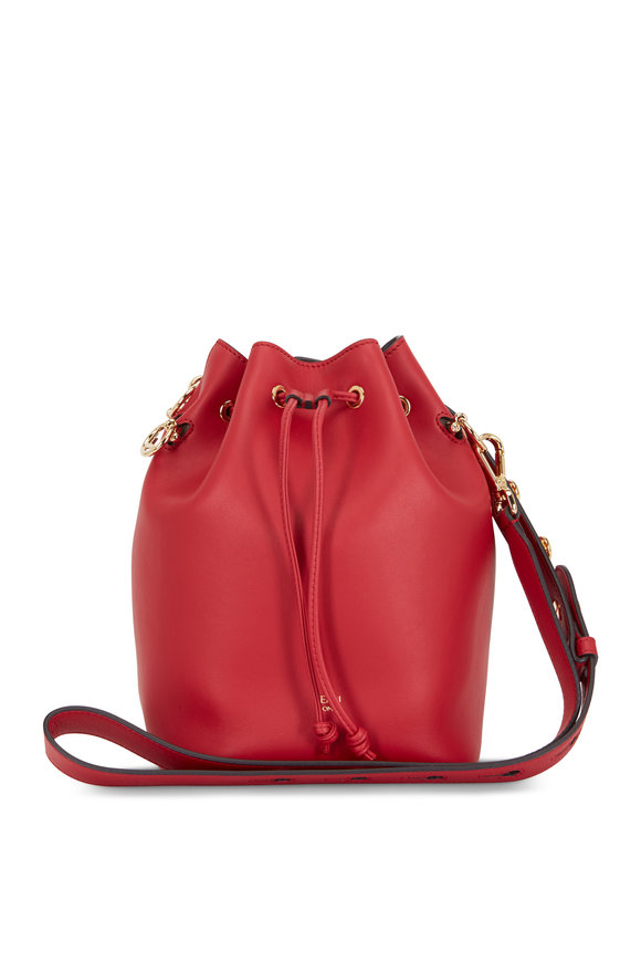 Fendi Mon Tresor Red Leather Grande Bucket Bag