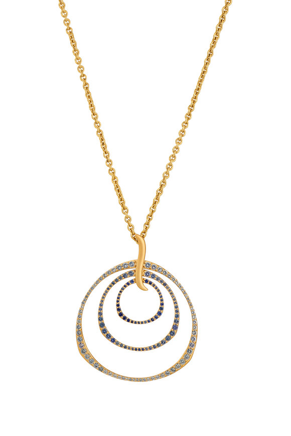 Sandy Leong 18K Yellow Gold Twilight Triple Hoop Necklace
