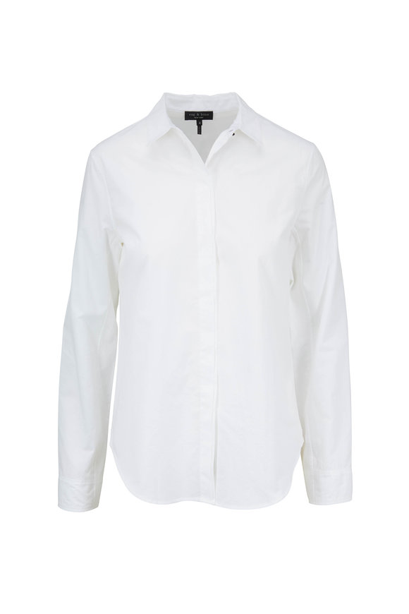 Rag & Bone Beau White Cotton Button Down Shirt