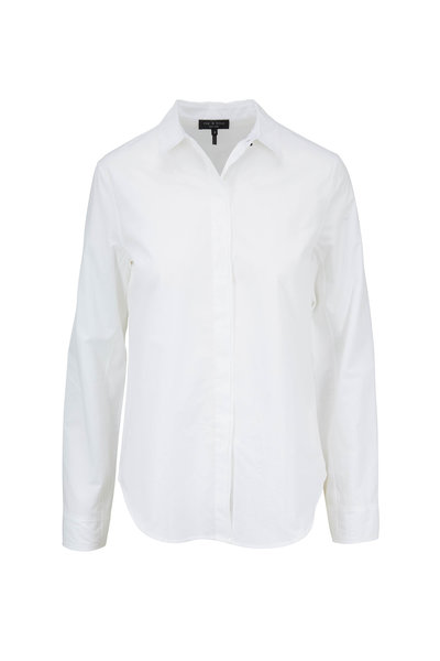 Rag & Bone - Beau White Cotton Button Down Shirt