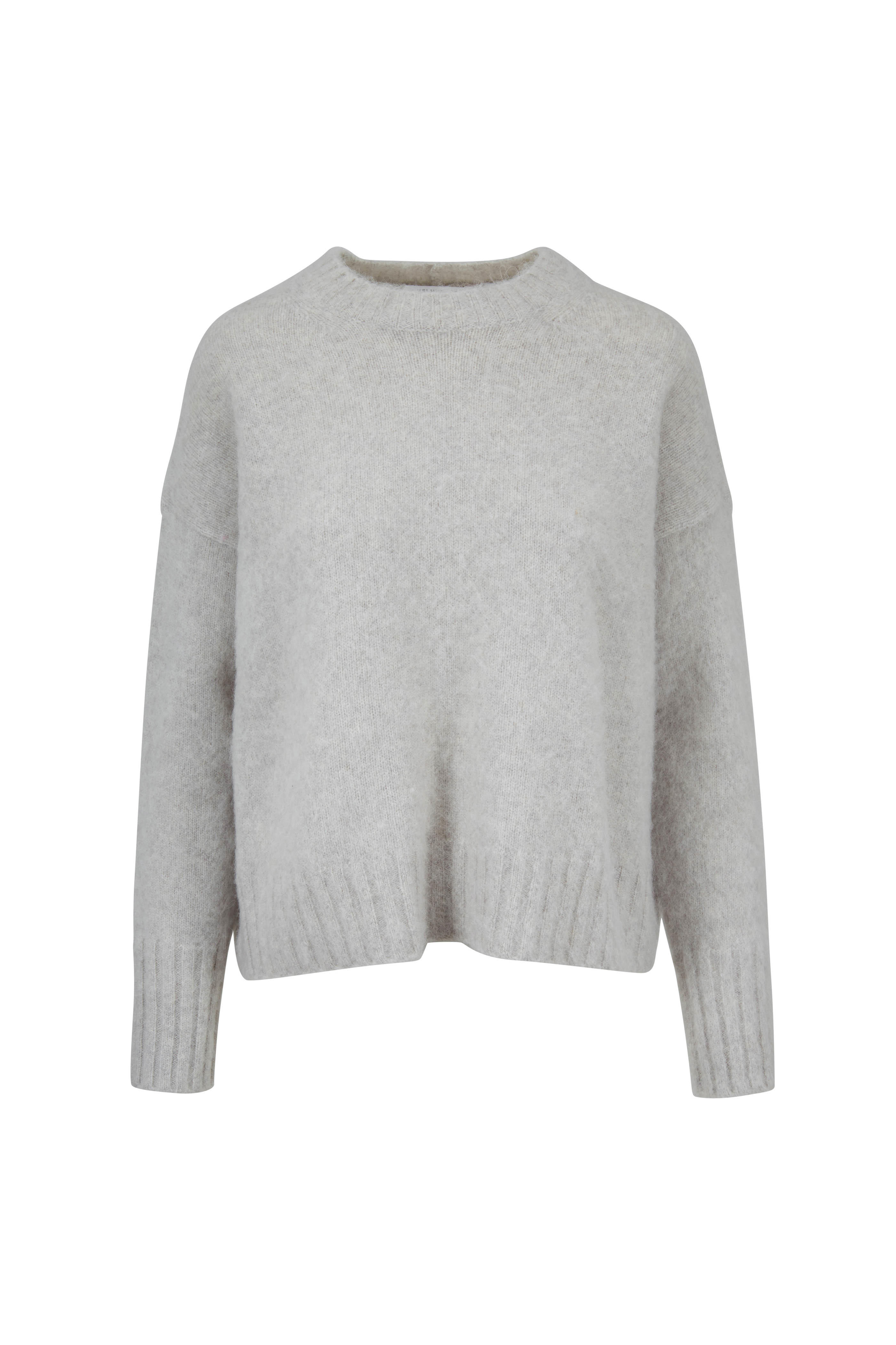 91ffa20122 Helmut Lang - Ghost Gray Brushed Wool Crewneck Sweater
