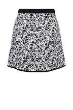 Michael Kors Collection - Black & White Floral Surf Printed Mini Skirt